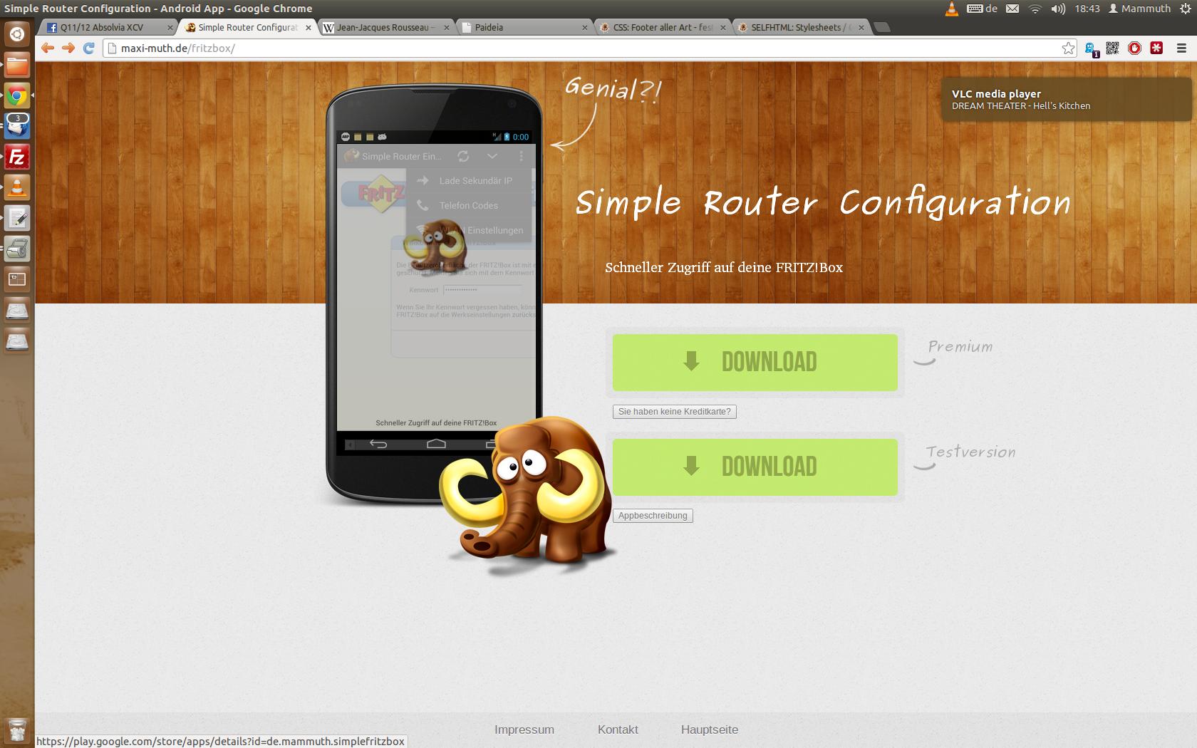 Neue Unterseite geht online! Werbe-Seite für Simple Router Configuration