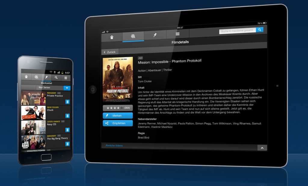 Maxdome iPhone und iPad App – Android in greifbarer Nähe?