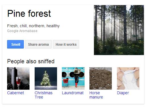 Google Nose – Erweiterung der Suche | Aprilscherz