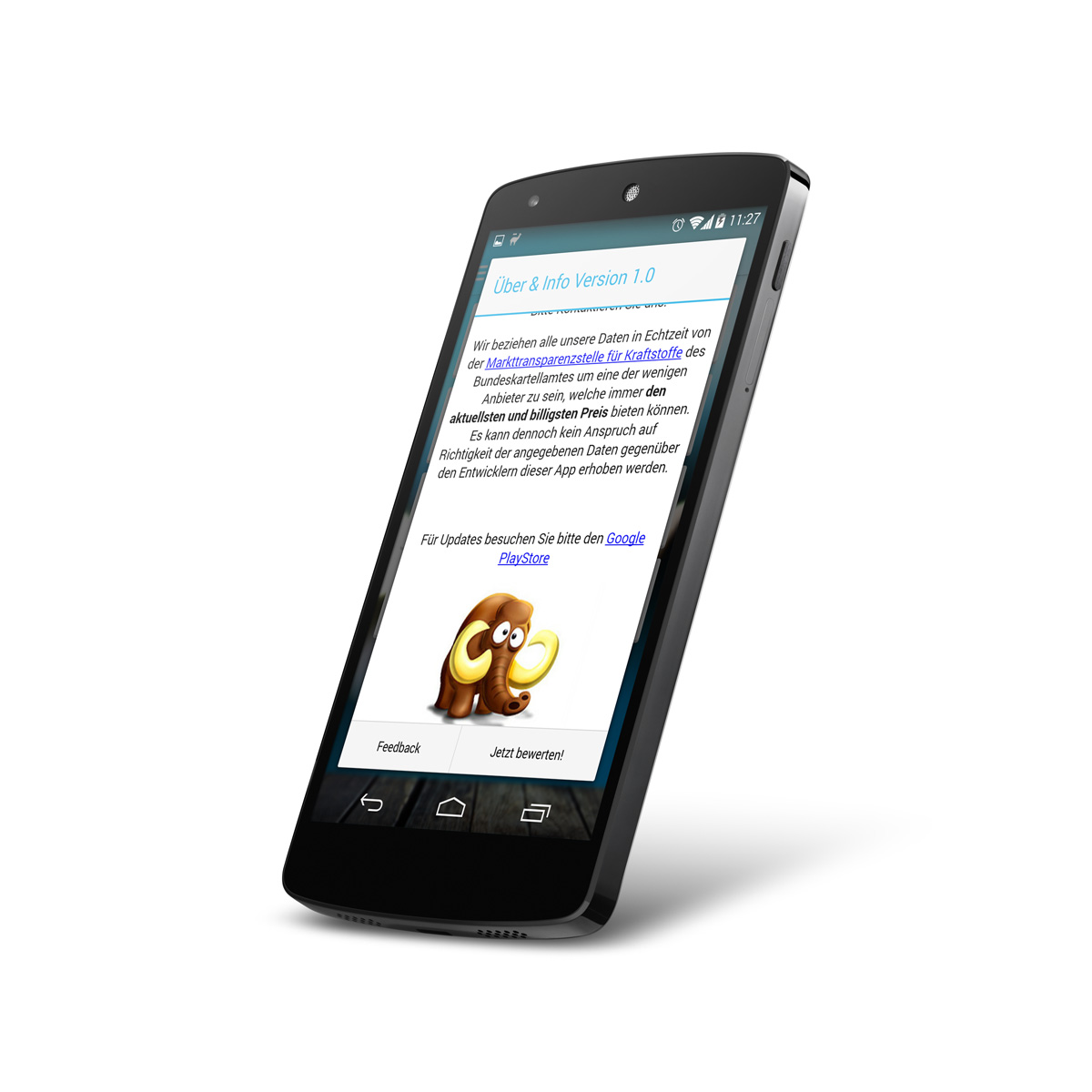 Android About & Share Dialog / WebView within Dialog